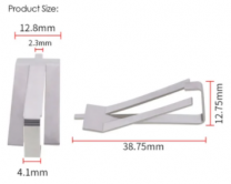 Stainless Steel Glass Fixing Clip - 1pcs