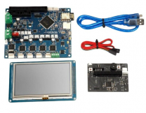 "Motherboard Cloned Duet WIFI V1.03 Controller Board 32 Bit With WIFI 4.3"" PanelDue Touch Screen for 3D Printer"