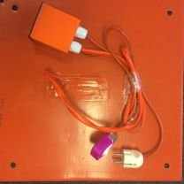 Silicone Heatbed with 4 holes, 308x308mm 220V 400W (Fx CR10S) (External PID controller)