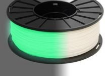 3DE - Glow In Dark 1.75mm - Green