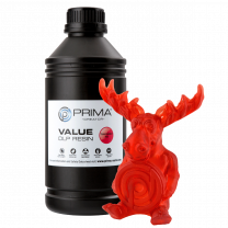 Primacreator Value UV/DLP Resin - Transparent Red - 1L