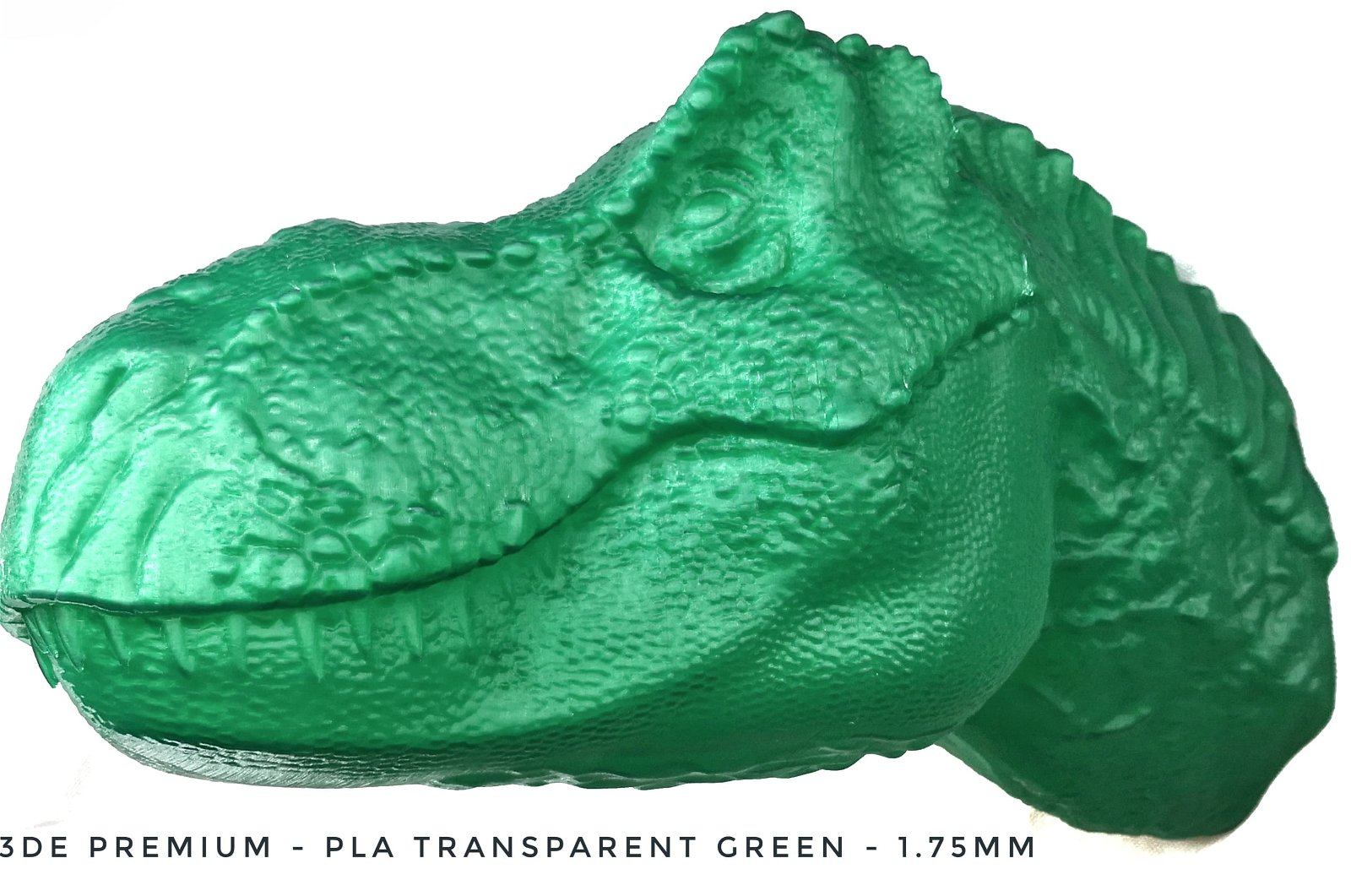 3DE Premium PLA - Transparent Green